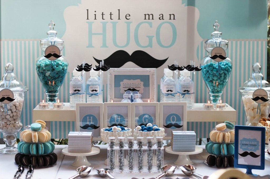 Hugo's Blue and White Candy Buffet