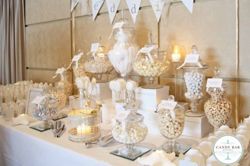 Ivory and White Wedding Candy Buffet | Candy Bar Sydney