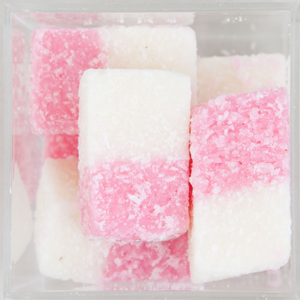 Coconut Ice Bites Candy Cube