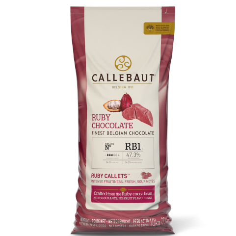 Callebaut RB1 Ruby Chocolate Couverture Callets 10kg