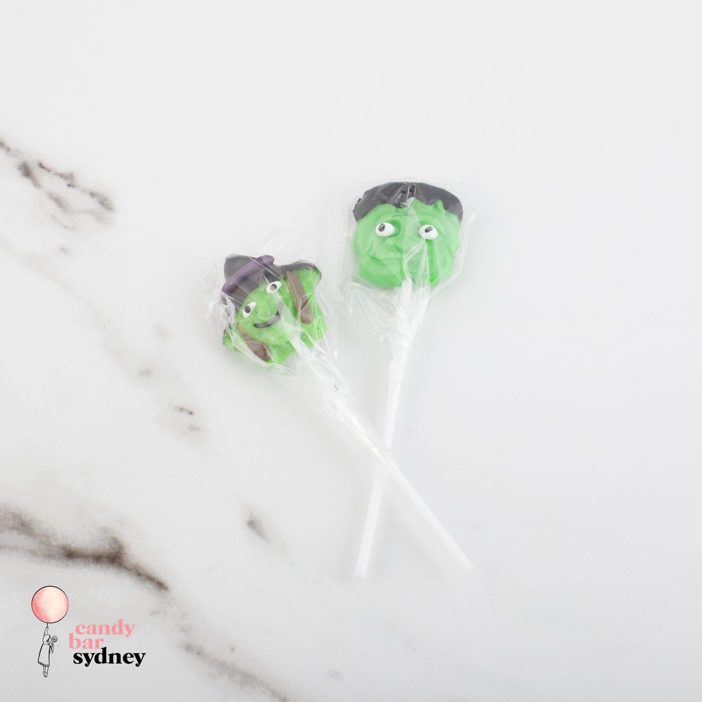 Frankenstein and Witch Halloween Lollipops
