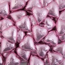 Light Pink Belgian Chocolate Hearts 500g - 5kg