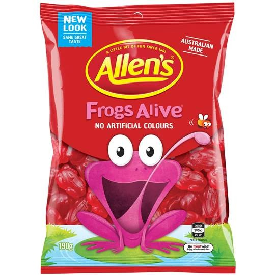 Allen's Red Frogs Alive 190g