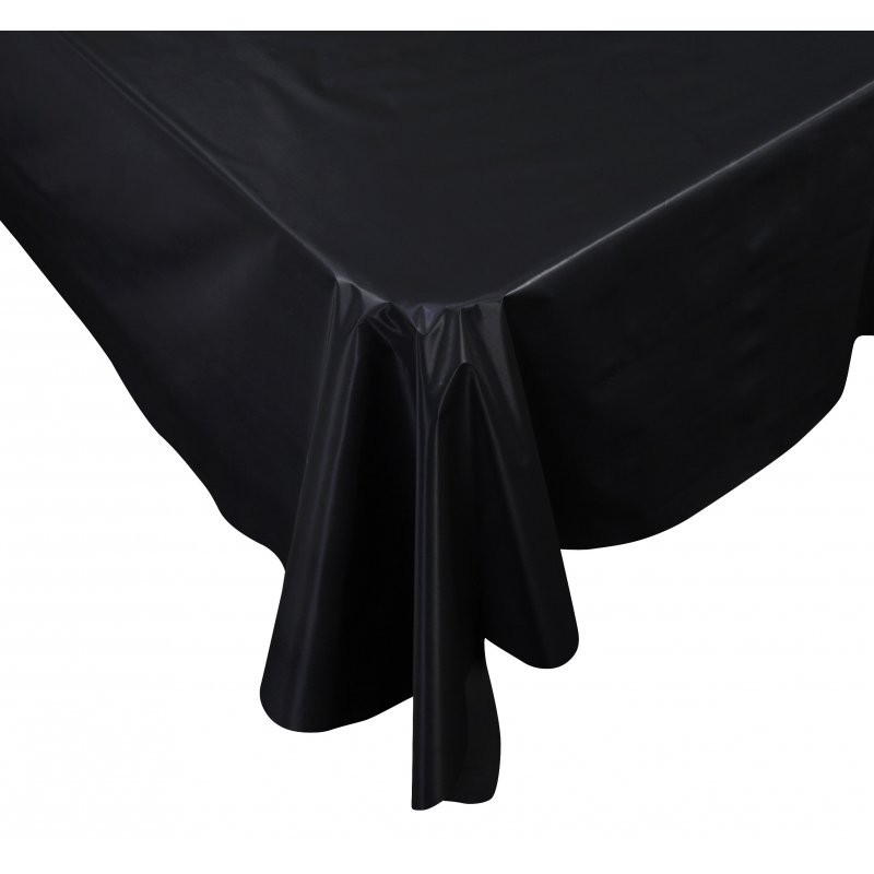 Black Plastic Rectangle Tablecover