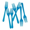 Electric Blue Plastic Forks 20 pack