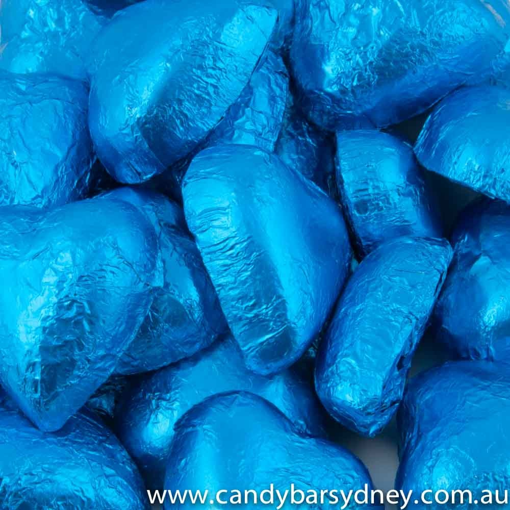 Royal Blue Belgian Chocolate Hearts 500g - 5kg