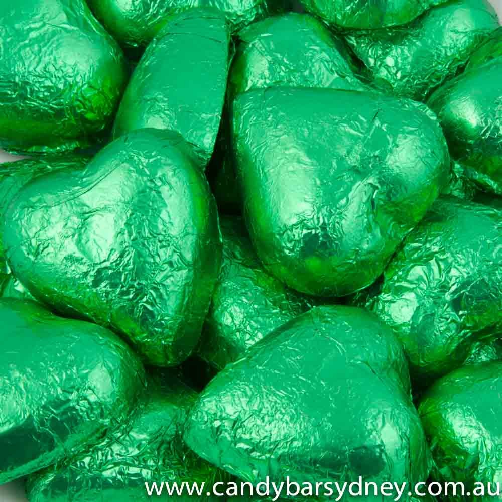 Green Belgian Chocolate Hearts 500g - 5kg