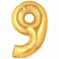 Gold Number 9 Foil Balloon 102cm