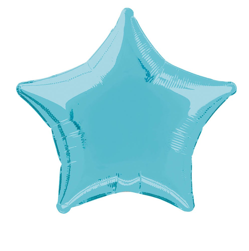 Baby Blue Star Foil Balloon 50cm