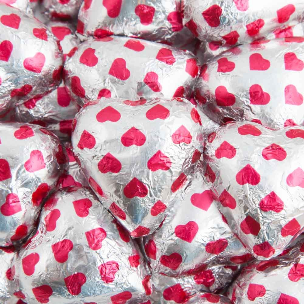 Heart Print Belgian Chocolate Hearts 500g - 5kg