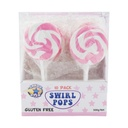 Pink Swirl Lollipops 50g - 10 Pack