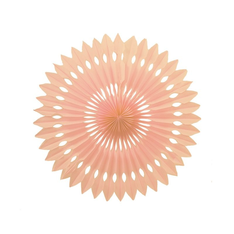 Peach Paper Hanging Fan 24cm