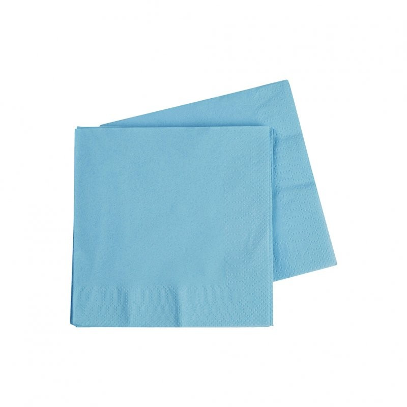 Light Pastel Blue Cocktail Napkins 40pk