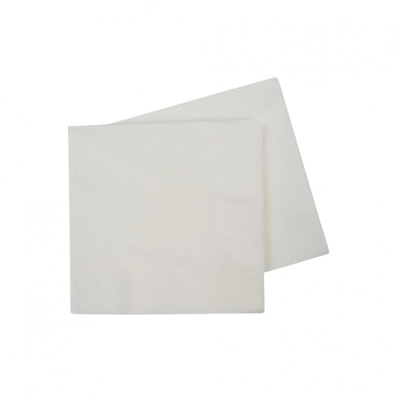 White Cocktail Napkins 40pk