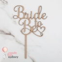 Bride To Be Bridal Shower Cake Topper
