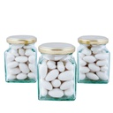 Square Bonbonniere Glass Jar 190ml