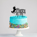Custom Unicorn Birthday Cake Topper