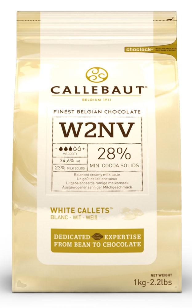 Callebaut W2 White Chocolate Callets 1kg