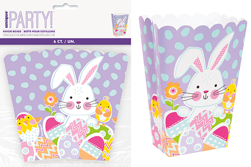 Lilac Easter Bunny Treat Boxes 6 Pack