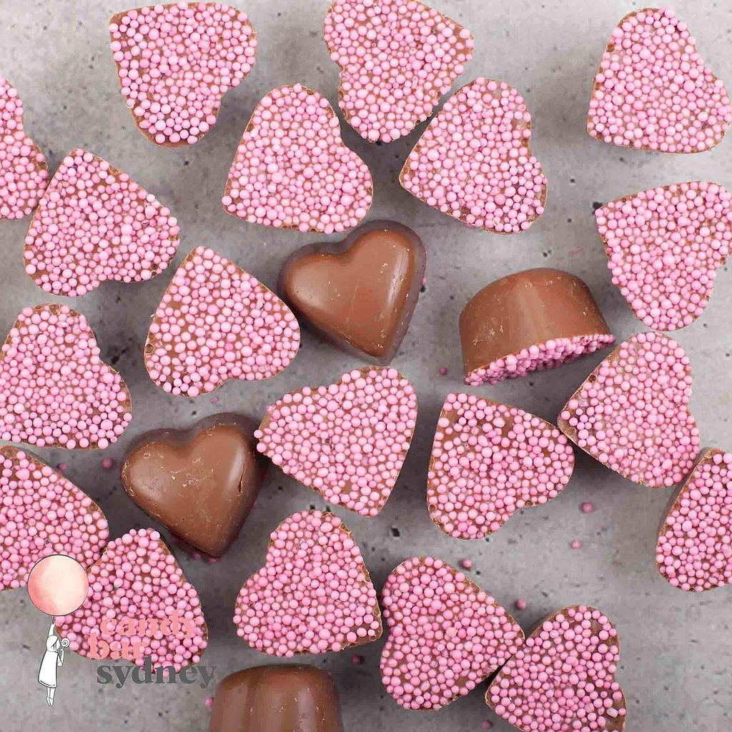Belgian Milk Chocolate Pink Freckle Hearts