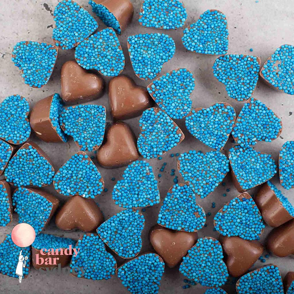 Belgian Milk Chocolate Blue Freckle Hearts