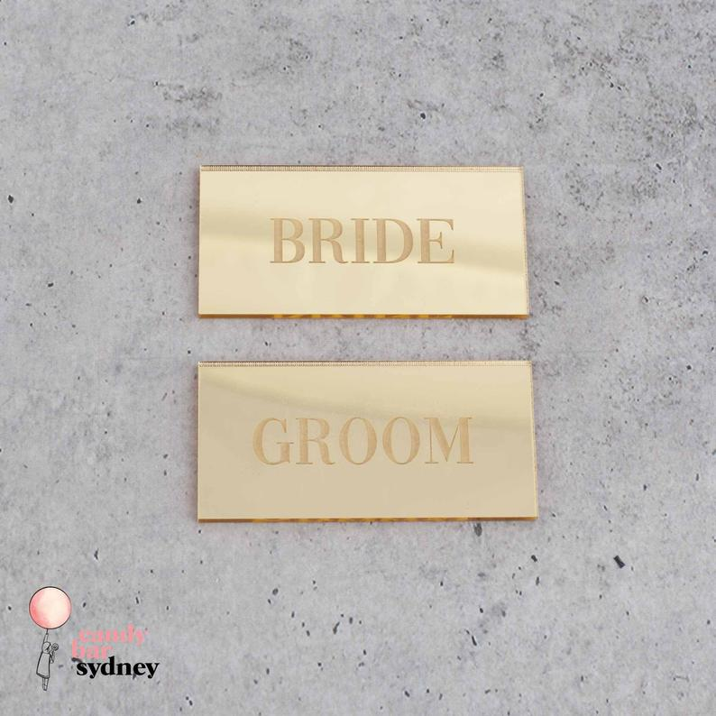 Classic Personalised Wedding Place Cards