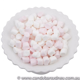 Mini Pink and White Marshmallows 200g