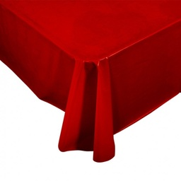 Red Plastic Rectangle Tablecover