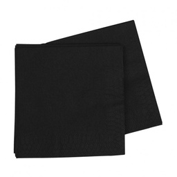 Black Lunch Napkins 40 pack