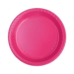Magenta Plastic Snack Plate 25 pack
