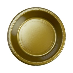 Gold Plastic Dessert Bowl 20 pack