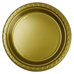 Gold Plastic Dinner Plate 20 pack