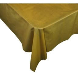 Gold Plastic Rectangle Tablecover
