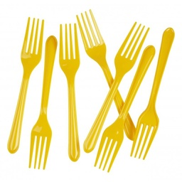 Yellow Plastic Forks 20 pack
