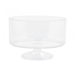 Small Footed Trifle Plastic Candy Jar/Bowl