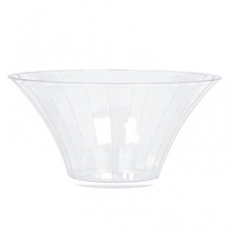 Large Flared Plastic Candy Buffet Bowl