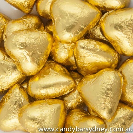 Gold Belgian Chocolate Hearts 500g - 5kg