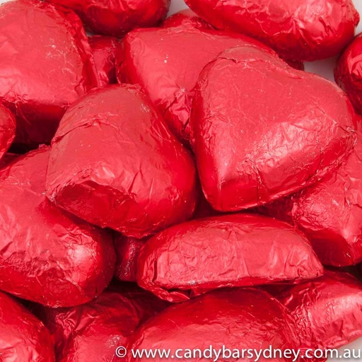 Red Belgian Chocolate Hearts 500g - 5kg