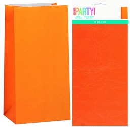 Orange Lolly Bags 12 pack