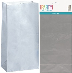 Silver Lolly Bags 10 pack