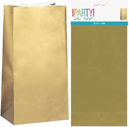 Gold Lolly Bags 10 pack