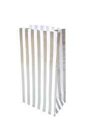 Silver Stripe Lolly Bags 10 pack