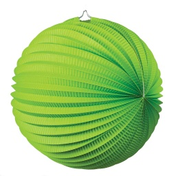 Lime Green Accordion Lantern 35cm