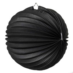 Black Accordion Lantern 35cm