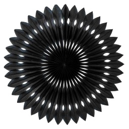 Black Paper Hanging Fan 40cm