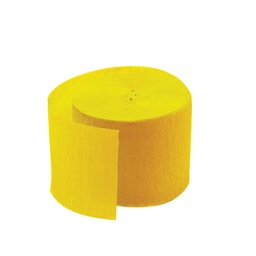Yellow Paper Streamer Roll 30m