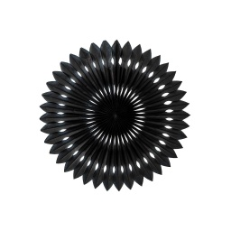 Black Paper Hanging Fan 24cm