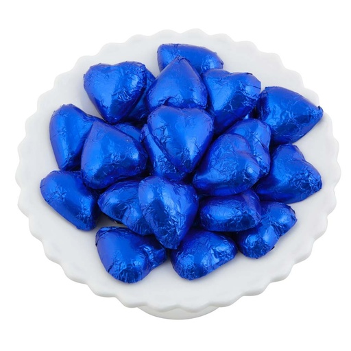 Dark Blue Belgian Chocolate Hearts 500g - 5kg