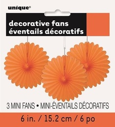 Orange Decorative Fans 15cm