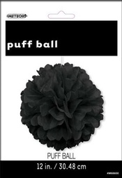 Black Decorative Puff 30cm